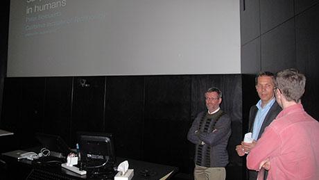 Peter Bossaerts, Carsten Murawski, Anthony Hannan at Melbourne Brain Centre